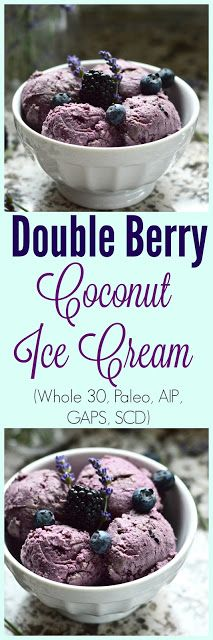 Paleo Double Berry Coconut Ice Cream--and you don't even need an ice cream maker. (paleo, AIP, GAPS, gluten free, grain free, dairy free, egg free, soy free, nut free, refined sugar free)