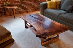 Natural Wood Slab Coffee Table - Sample 2