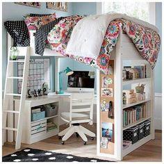 Emérita Desastre: Decoración: Habitaciones para chicas adolescentes - #decoracion #homedecor #muebles