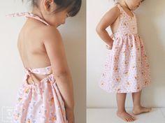 Cousez la robe d'été pour votre petite fille   tutoriels de couture   Blog de Petit Citron