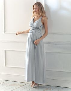 Maternity bridesmaid dress...seeing most likely at least one of my bridesmaids will either just have a baby or pergo.....so I like this