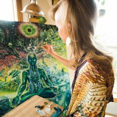 Visionary artist Domė Moon paints the Unified Field to help us remember that we are connected to one another, our environment and the Divine. What Do You Feel, How Are You Feeling, Zen Home Decor, Weed Art, Moon Painting, Goddess Art, Feminist Art, Visionary Art, Astrology