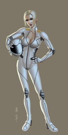 Futuristic, Galactic Melee Pilot by Lunatique-SF on deviantART