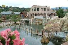 Pagosa Hot Springs Resort with with 23 natural hot springs ranging from 83 to 114 degrees. Located in Pagosa Springs, CO. Sounds like heaven on Earth to me!
