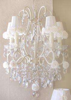 Stunning crystal chandelier for nursery