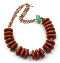 Rainforest Bulahan Bead Necklace  - see all project components at AntelopeBeads.com