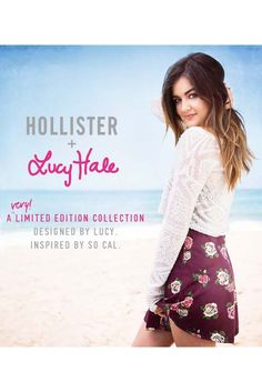 Lucy Hale in an ad for her collaboration with Hollister. [Courtesy Photo]