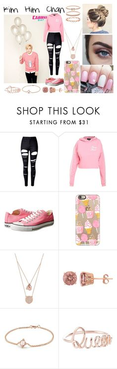 """Kim Him Chan"" by ohmy-fangirl on Polyvore featuring WithChic, Converse, Casetify, Michael Kors, David Yurman and Accessorize"