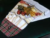 Cute Hanging Towel Button On Red Prints Fabric Top Terry Towel Secret Santa