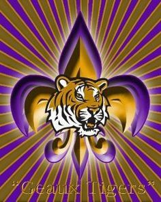 LSU GEAUX TIGERS!!! Louisiana - LSU TIGERS - LSU TIGERS colors purple & gold - Louisiana State University