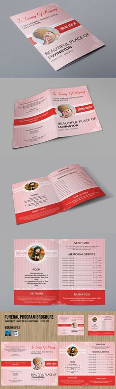 Black Funeral Program Template  Program Template And Brochure