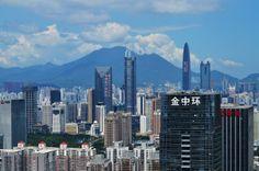 Shenzhen skyline Shenzhen China, Dream City, Cityscapes, San Francisco Skyline, New York Skyline, Cities, Asia, Around The Worlds, Urban