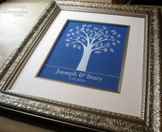 Winter Wedding Tree - Finger Print Guestbook Print -  16x20 - 100 Signature Keepsake Poster