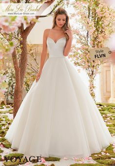 Dress Style FLVN  DUCHESS SATIN AND TULLE BALL GOWN  Colors Available: White, Ivory, Light Gold #morilee #morileebridal