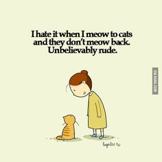 Cats are rude...