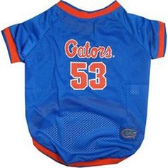 Florida Gators Dog Jersey - Pets First Get your dog ready for the game in this mesh poly dog jersey with screen printed team logo, woven patch and contrast trim. Florida Gators, Pet Gear, New Era Hats, Dog Boutique, University Of Florida, Dog Dresses, Georgia Bulldogs, Personalized Products, Outfits