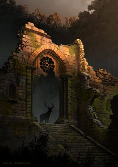 Arch in the dark forest, Rafal Banasiak on ArtStation at…
