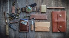 Different grades of leather (Natural Veg, Shell Cordovan...