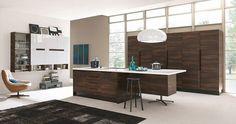 Cucina Chantal di Febal | Design: Alfredo Zengiaro | Anno: 2012 | Materiali: Noce | #design #minimal @Lisa Phillips-Barton Asil