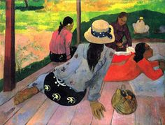 La hora sexta, sucumbir a la meridiana  Gauguin, La sieste
