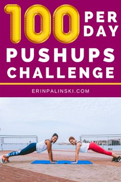 Need a new fitness challenge?  Try this pushups challenge!  Can you complete 100 pushups a day for a month?  I think you can do it! #pushups #fitness #challenge
