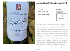 Angullong Wine's new release Montepulciano Traditional House, Wines, Fossil, Red Wine, Bottle, Flask, Fossils