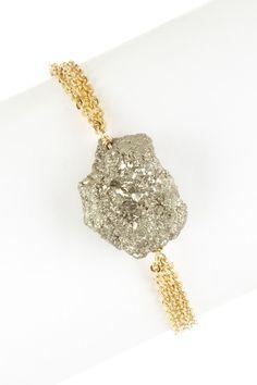 Raw Nugget Pyrite Bracelet