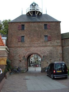 NETHERLANDS - Vischpoort ('Fish gate') with lighthouse on top, Harderwijk