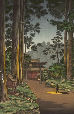 土屋光逸 (風光礼讃) - 日光二荒山 (1936)