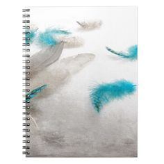 Turquoise Fluff Notebook