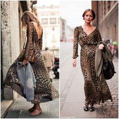 Leopard Outfits, Leopard Clothes, Shifon Dress, Fashion 2018, Womens Fashion, Fashion Trends, Vestidos Animal Print, Boho Look, Designer Gowns