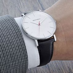 Slim Wrist Watch Minimalist Design - Watch - Ideas of Watch - class // watch black band minimalist watch mens style menswear Stylish Watches, Luxury Watches, Cool Watches, Watches For Men, Wrist Watches, Men's Watches, Cheap Watches, Casual Watches, Watches Online