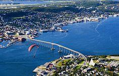 Tromsøbrua / Tromsø Bridge, Tromsø, Norway ~ Aas-Jakobsen & Erling Viksjø (1960) ~ Cantilever Bridge (1,036 metres / 3,399 feet) ~ Spans the Tromsøysundet.
