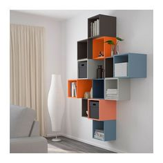 EKET Wall-mounted cabinet combination - multicolor - IKEA