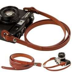 Brown whole leather Camera neck shoulder strap for Film SLR DSLR RF Leica Digital *** To view further for this item, visit the image link.