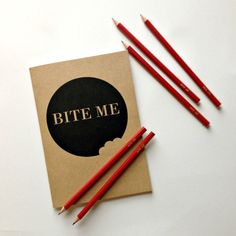 'Bite Me' journal – Emma Makes My Journal, How To Plan, How To Make, Stationery, Notebook, Shit Happens, Sewing, Prints, Stationeries