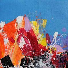 "Saatchi Art Artist Carles Azcon Jutgla; Colorful Abstract Painting, ""HYMA"" #art"