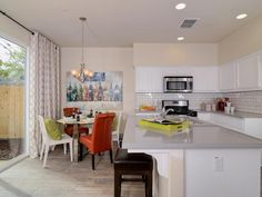 Contemporary Kitchen with Breakfast Nook - Kitchen Islands With Seating: Pictures & Ideas From HGTV : Rooms : Home & Garden Television