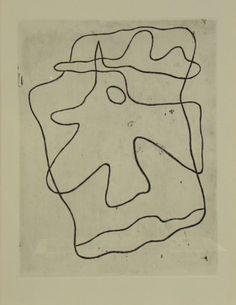 Original etching Jean Arp, Gravures original Jean Arp, Original Radierung Jean Arp,   title: vers le Blanc infini Nr. 410,  technology: etching