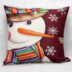 SHARE & Get it FREE | Merry Christmas Snowman Pattern Home Throw Pillow CaseFor Fashion Lovers only:80,000+ Items·FREE SHIPPING Join Dresslily: Get YOUR $50 NOW!