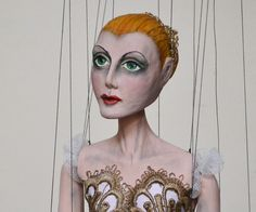 'Ballet Dancer Two' (c. 2013). Artisan: Georgi, Axa Marionettes. | Info from site: Each puppet is a unique original, carved by Georgi, and hand-painted and hand-sewn by Xenie. More: http://axamarionettes.com/marionette/georgi/ballet-dancer-2-3/ | Additional images: http://axamarionettes.com/wp-content/uploads/bal3.jpg - http://axamarionettes.com/wp-content/uploads/bal2.jpg