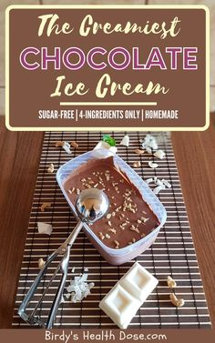 From the category of simple and quick summer desserts, ice cream occupies the first place in my kitchen. You will love this homemade, creamy, sugar-free, chocolate ice cream with only 4 ingredients. Spicy Recipes, Healthy Recipes, Tasty, Yummy Food, Chocolate Ice Cream, Cream And Sugar, Summer Desserts, 4 Ingredients, Health And Nutrition