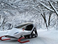 The Snow Crawler Snowmobile Concept Winter Snow, Winter White, Beautiful Winter Pictures, Snow Scenes, Dream Garage, Automotive Design, Life Is Beautiful, Race Cars, Places To Visit