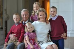 Belgium's King Philippe, Queen Mathilde and their children.