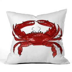 Shop our Red Crab Outdoor Throw Pillow and other coordinating products in this fun resort inspired Laura Trevey collection. UV protected and mildew resistant. Available in 4 different sizes.
