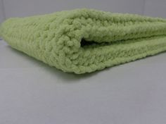 Knitted Baby Blanket   Lemon Lime by PolkaDotKreations on Etsy, $40.00