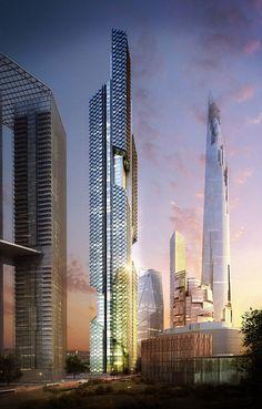"""Der gerade im Yongsan International Business District vom südkoreanischen Seoul entstehende """"Architekturcampus"""" hat nun nach den vorgestellten Projekten von MVRDV und BIG einen weiteren spektakulären Zuwachs bekommen…"""