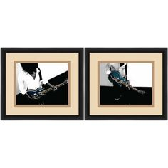 Black And White Guitarist Entertainment Wall Art, Set of 2