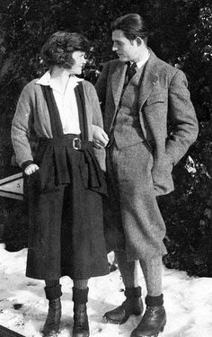 Ernest & Hadley Hemingway, Switzerland, 1922 -- three years before the publication of The Sun Also Rises turned Hemingway into one of the most talked-about writers on the planet.