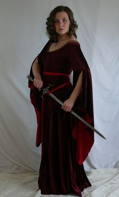 medieval dress with sword by magikstock on DeviantArt
